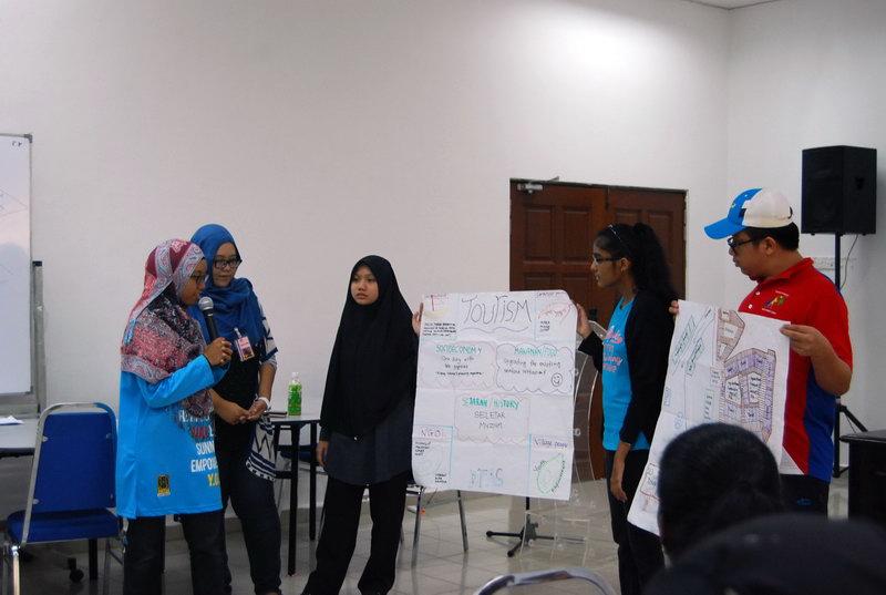 Team D'Fas showing their ideas