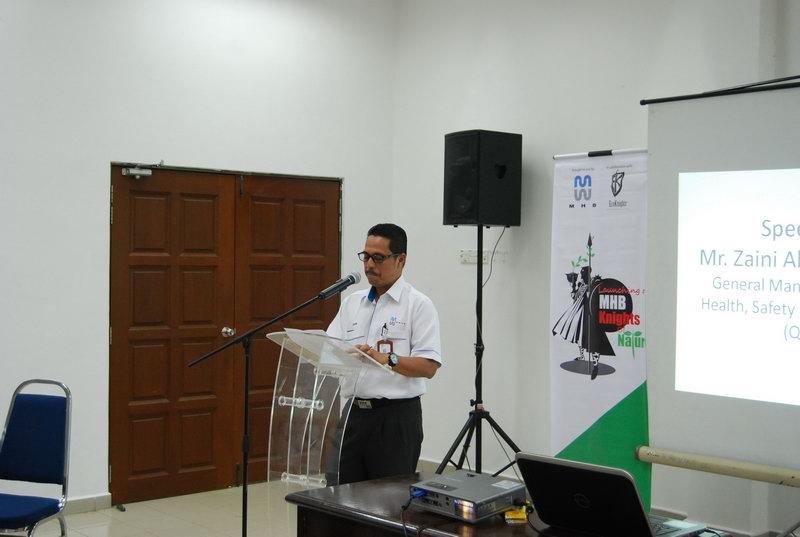 Mr. Zaini giving a speech