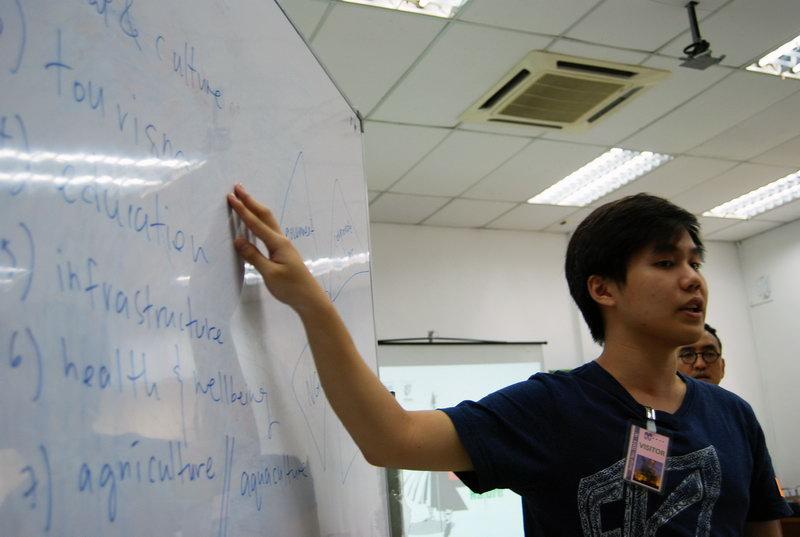 Jian Wen explaining about the assignment